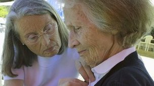 Alzheimer's patient and daughter