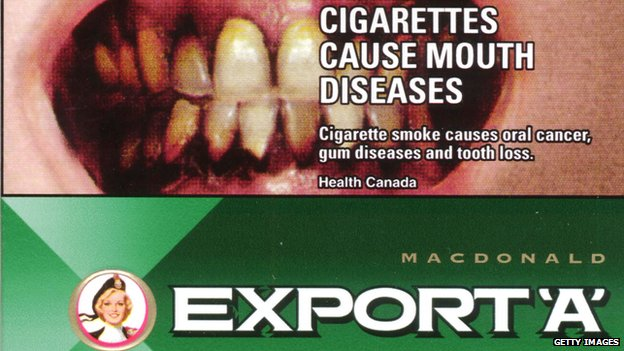 Cigarette packet from Canada