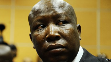 Julius Malema at a court appearance, Johannesburg, 18 September