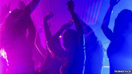 People dancing in a club - stock photo