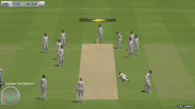 screenshot from Ashes Cricket 2013