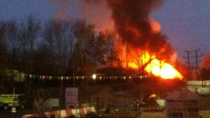 Swindon Skips fire