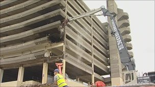 Bulldozers tear into Gateshead's car park