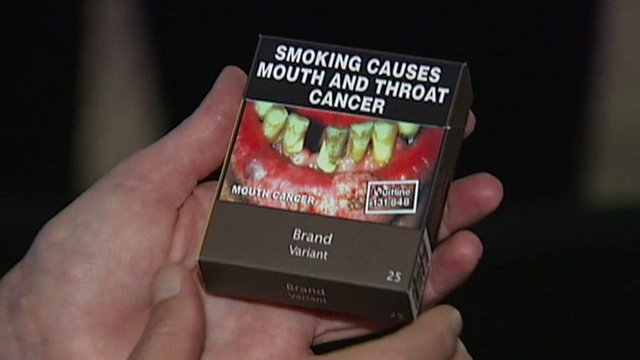 The proposed plain packaging on cigarettes