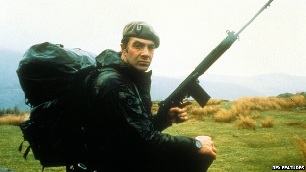 Lewis Collins in Who Dares Wins