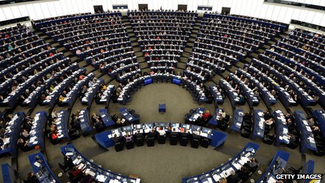 MEPs in the chamber in Strasbourg