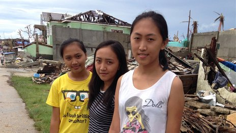Christine, Coreen and Joyce Garado (l-r)