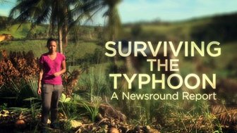 Title slide from Surviving the Typhoon Newsround Special