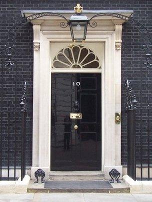 The door of 10 Downing Street