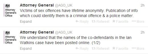 Tweets from the Attorney General's office