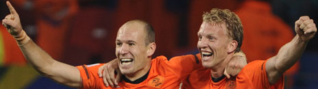 Arjen Robben and Dirk Kuyt