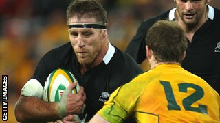 Brad Thorn in action for the All Blacks against the Wallabies