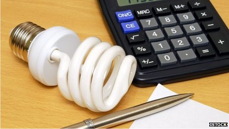 Light bulb and calculator