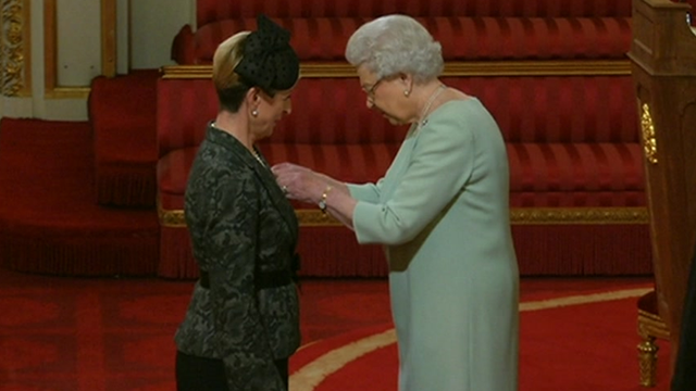 Kay Alexander and the Queen