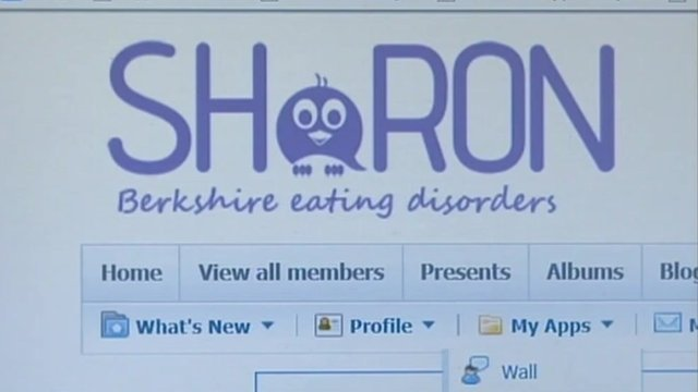 The Sharon website which is helping anorexia sufferers