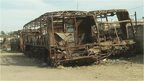 Burnt buses