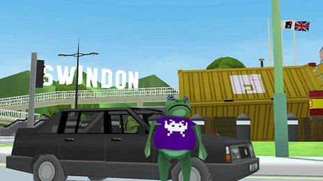 Screenshot of amazing frog game
