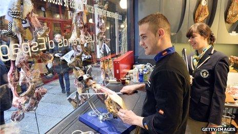 Spanish ham shop