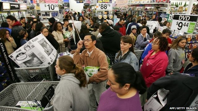 American shoppers on Black Friday