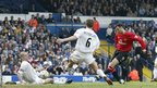 Ryan Giggs scores against Leeds United during the 2001-02 season.
