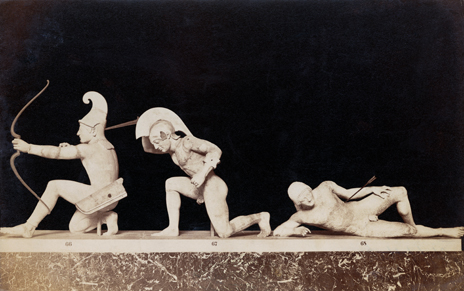 Frieze portraying fall of Troy