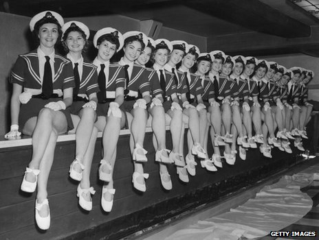 The Tiller Girls at a Royal Command Performance at the London Palladium in 1954