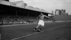 Sir Stanley Matthews appearing for Blackpool FC at Bloomfield Road
