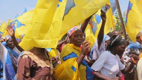 Supporters of President Kabila