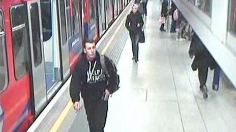 Footage showing Lee Rigby at Woolwich DLR station on the day he was killed