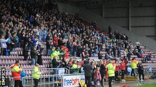 The Coventry City faithful at their adopted home