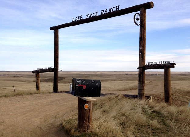 Lone Tree Ranch entrance in the Great Plains