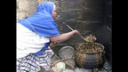 A woman cooking a soup made from cattle hooves in Maradi, Niger - Wednesday 27 November 2013 (photo taken by the BBC's Tchima Illa Issoufou)