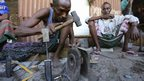 A Somali blacksmith at work in Mogadishu, Somalia - Tuesday 26 November 2013