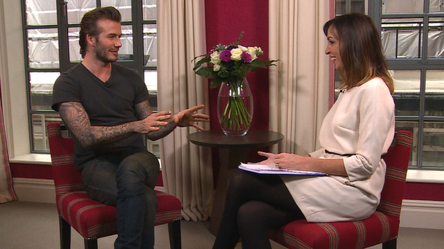 David Beckham and Sally Nugent