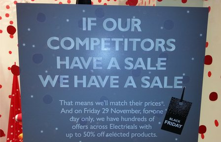 John Lewis window sale poster