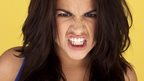 A woman being angry
