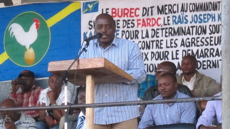 Joseph Kabila in Rutshuru