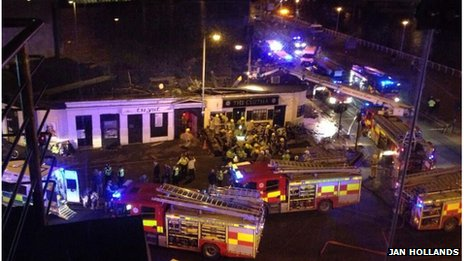 The scene at the clutha