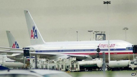 AA plane at Heathrow airport