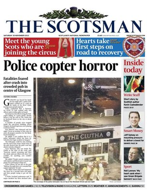 The Scotsman frontpage