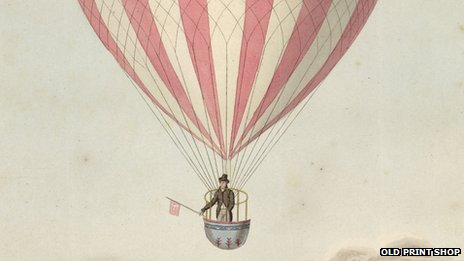 first Nottingham balloon flight by James Sadler in 1813