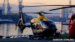 Polizia Scozia elicottero