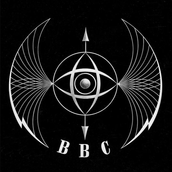 The BBC's first television symbol - or ident - which is said to look like a bat's wings