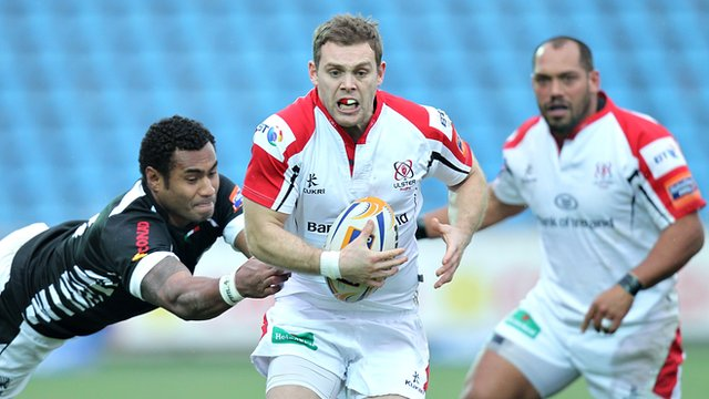 Darren Cave in action for Ulster against Zebre