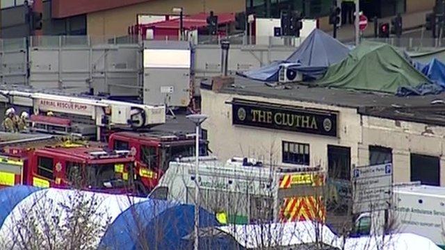 The scene at the pub