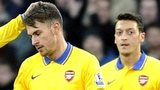 Aaron Ramsey and Mesut Ozil