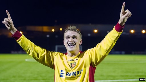 Albion Rovers goal hero Gary Phillips