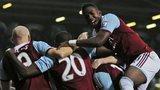 West Ham celebrate Mohamed Diame's goal