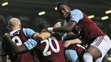 West Ham celebrate Mohamed Diame's goal