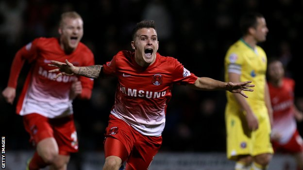 Leyton Orient's Dean Cox celebrates against Sheffield United